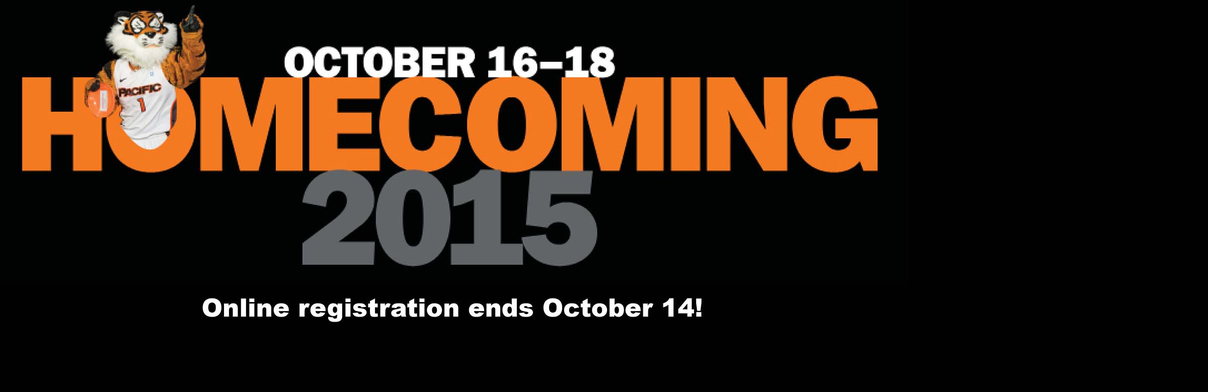 Register NOW for Homecoming 2015