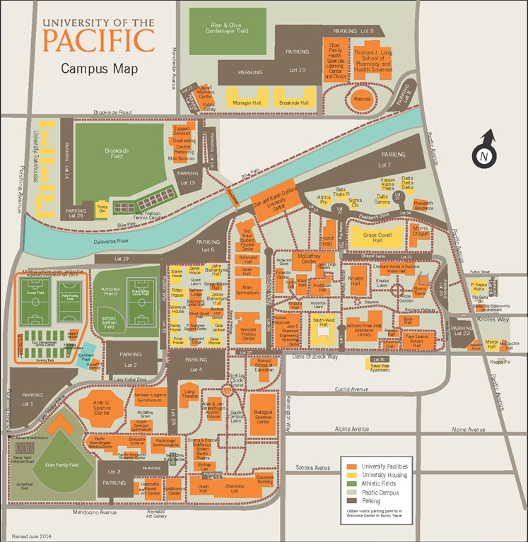Pacific University Map University of the Pacific   Campus Map